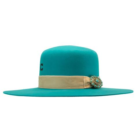 Charlie 1 Horse Bohemian Turquoise Felt Hat
