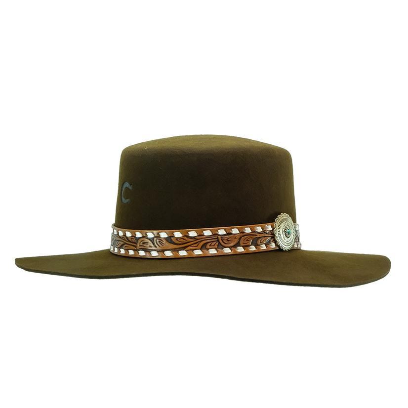 Charlie 1 Horse Sedona Rose Chocolate Felt Hat