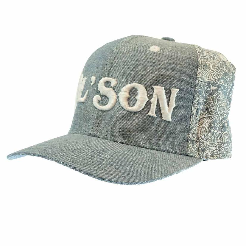 Dale Brisby Ol ' Son Light Denim And Paisley Meshback Cap