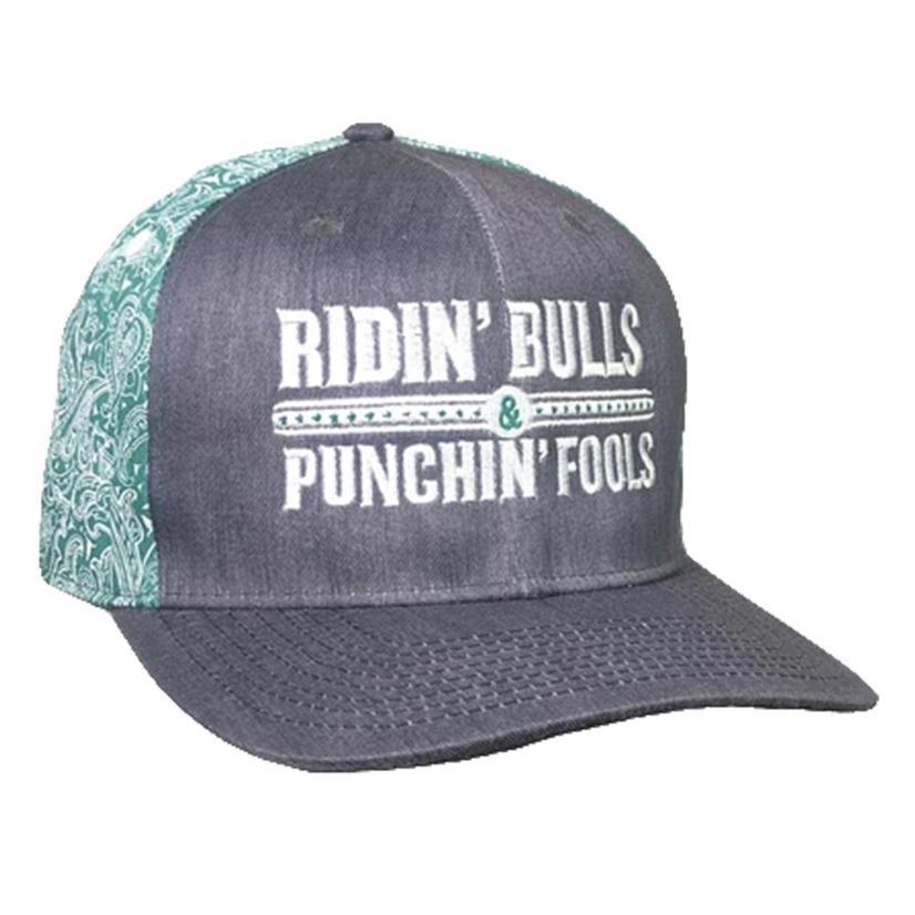 Dale Brisby Ridin ' Bulls Punchin ' Fools Bandana Meshback Cap
