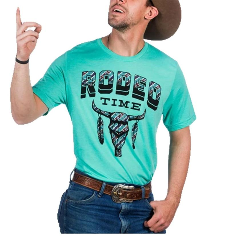 Dale Brisby Tribal Turquoise Rodeo Time Men's Tee