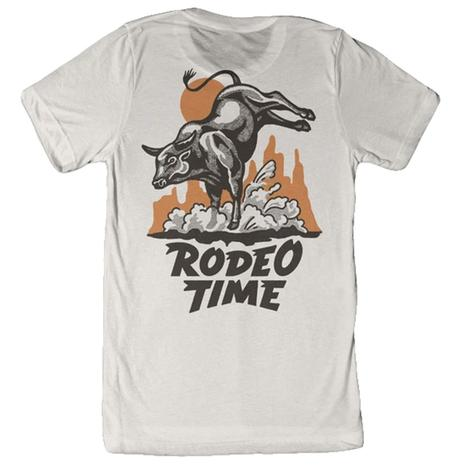 Dale Brisby White Tan Rodeo Time Men's Tee