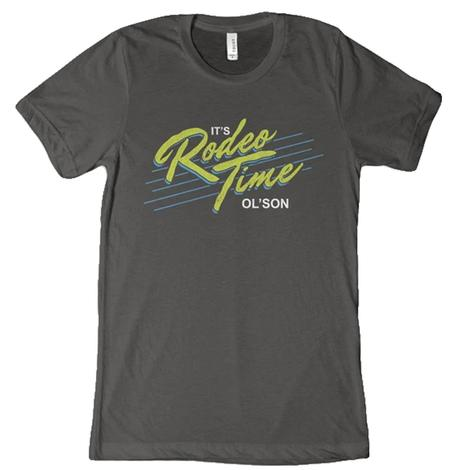Dale Brisby Grey It's Rodeo Time Men's Tee