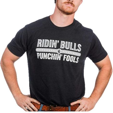 Dale Brisby Black Ridin' Bulls Punchin' Fools Men's Tee
