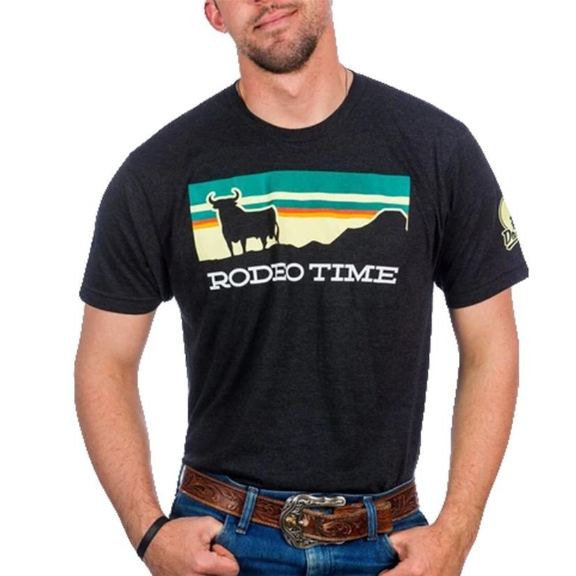 Dale Brisby Black Sunset Rodeo Time Men's Tee