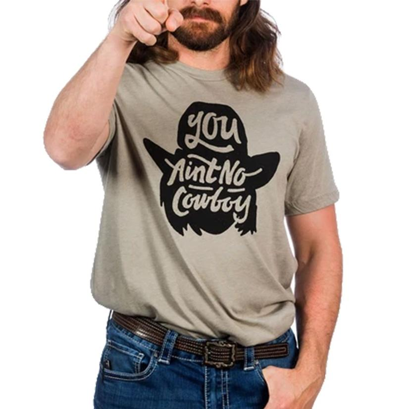 Dale Brisby You Aint No Cowboy T- Shirt In Cream