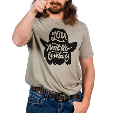 Dale Brisby You Aint No Cowboy T-Shirt in Cream