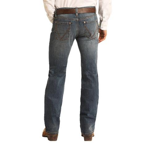 Rock and Roll Cowboy Vintage 46 Double Barrel Straight Leg Men's Jeans