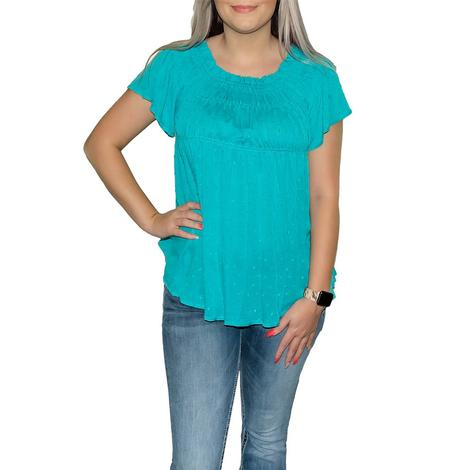 Swiss Dot off the Shoulder Women's Blouse