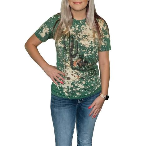 Cactus and Cowboy Matchbook Tee Shirt