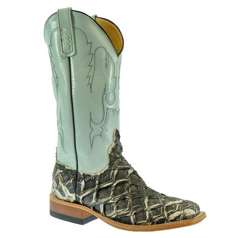 Anderson Bean Big Bass with Iguana Kidskin Top Men's Boots