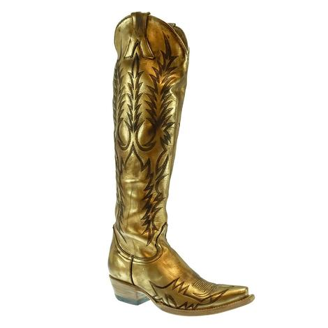 Old Gringo Women's Gold Mayra Boot