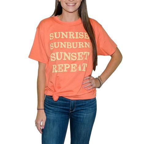 Heather Orange Sunrise Sunburn Short Sleeve T-Shirt
