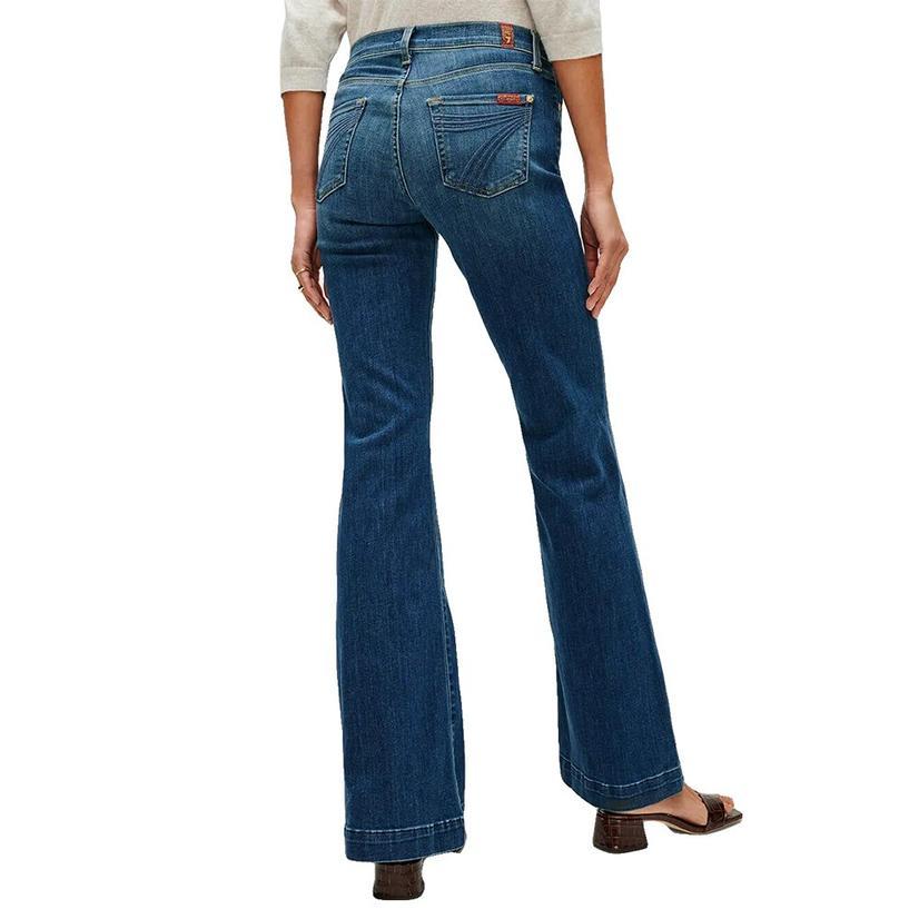 7 For All Mankind Medium Wash Melrose Dojo Trouser Jeans