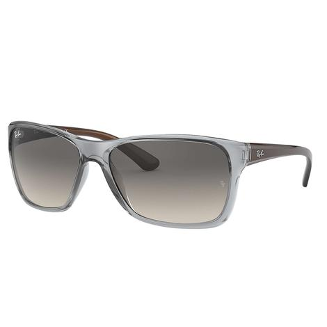 Ray-Ban Transparent Grey-Brown with Grey Gradient Lens Sunglasses