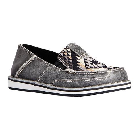 Ariat Grey Black Aztec Print Women's Cruisers