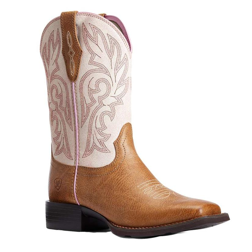 Ariat Cattle Drive White Crackled Women's Boots