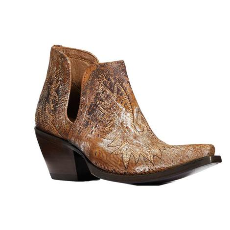 Ariat Dixon Brushed Silver Brown Shortie Women's Boots