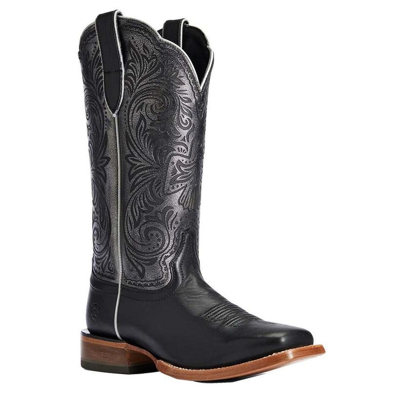 Ariat Brooklyn Black Silver Metallic Women's Boots