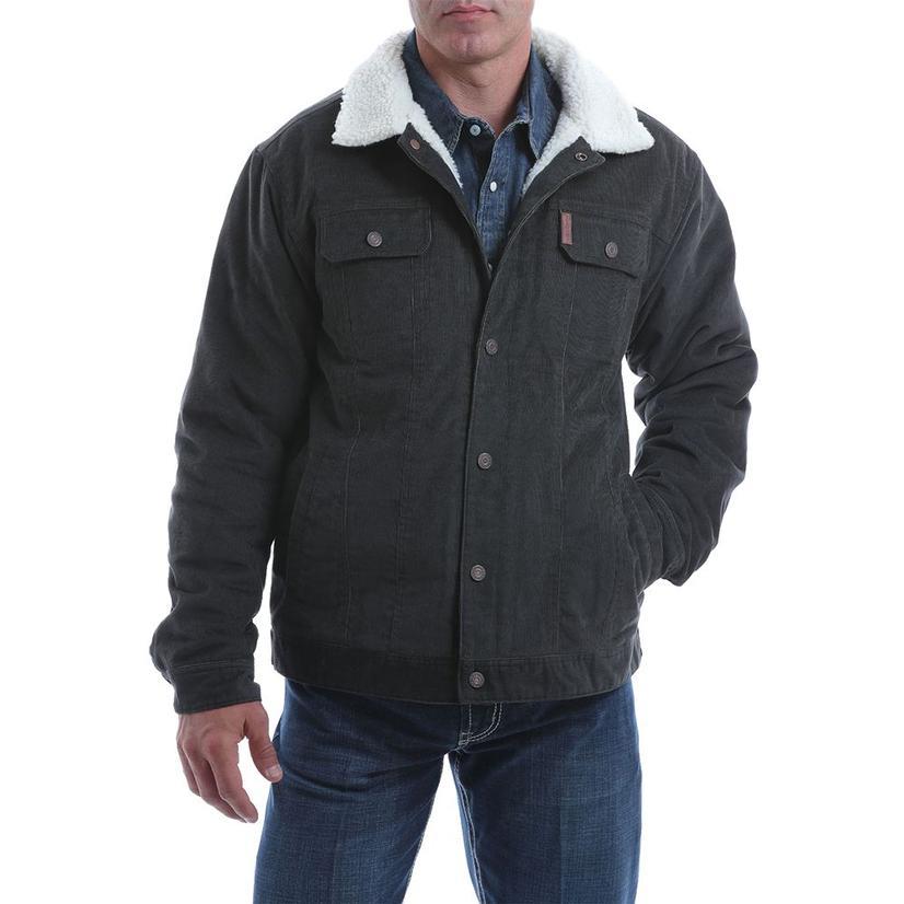 Cinch Charcoal Sherpa Lined Corduroy Trecker Men's Jacket