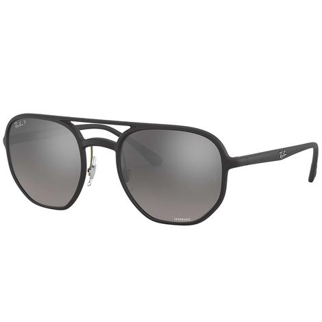 Ray Ban Silver Mirror Chromance Sunglasses