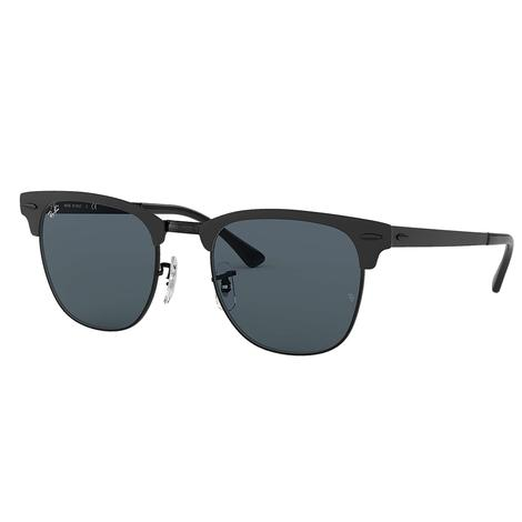 Ray-Ban Clubmaster Metal Shiny Black Top Sunglasses