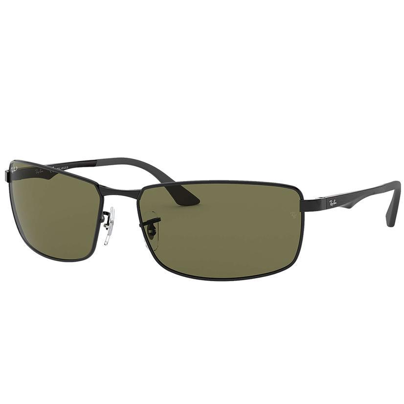 Ray- Ban Black And Green Polarized Sunglasses