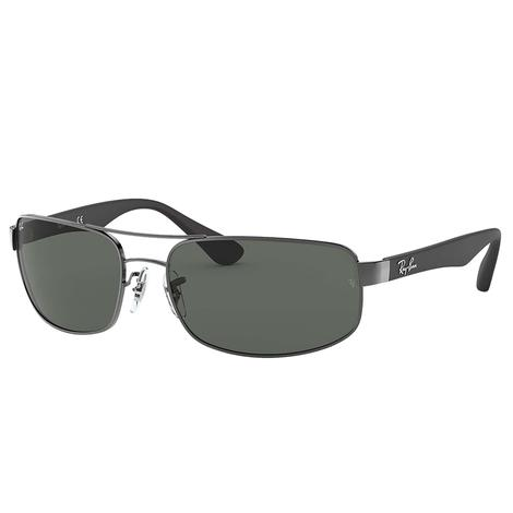 Ray-Ban Gunmetal Black and Green Sunglasses