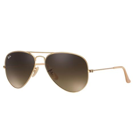 Ray-Ban Aviator Large Metal Matte Gold Sunglasses