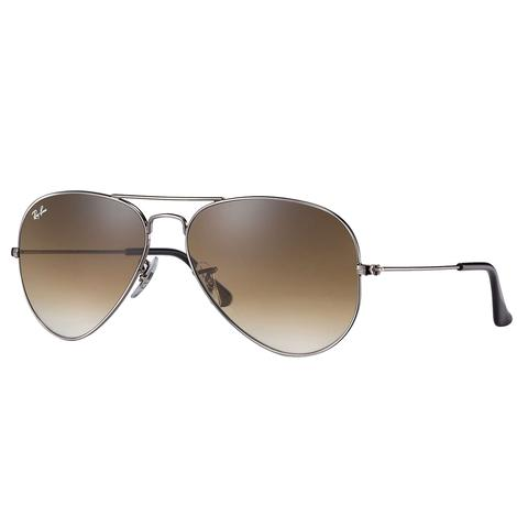 Ray-Ban Aviator Large Gunmetal Sunglasses