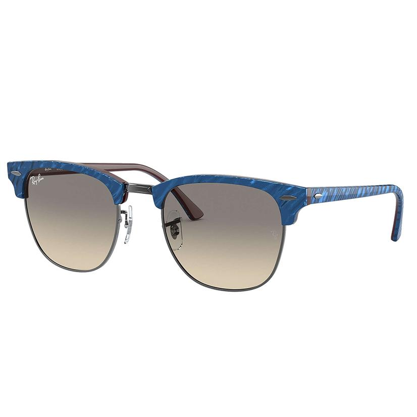 Clubmaster Marble Blue Light Grey Ray- Ban Sunglasses