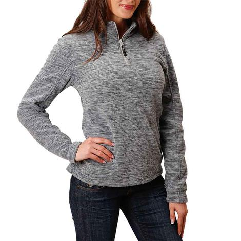 Roper Grey Micro Fleece Women's Pullover