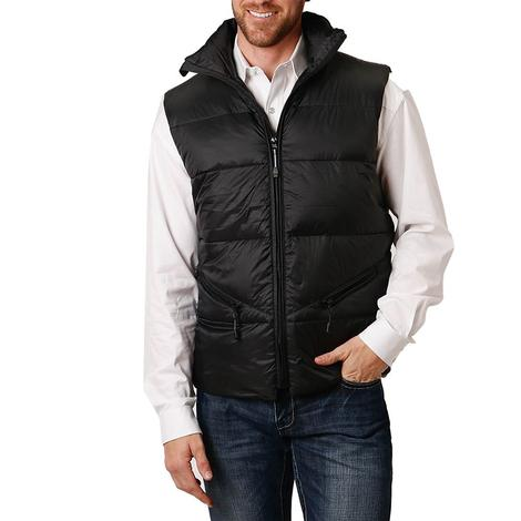 Roper Black Lightweight Down Puff Men's Vest