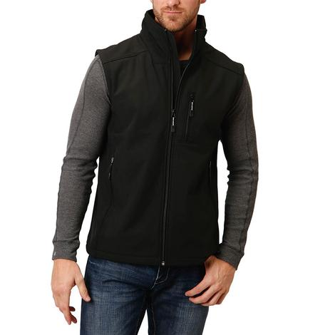 Roper Black Tech Softshell Men's Vest