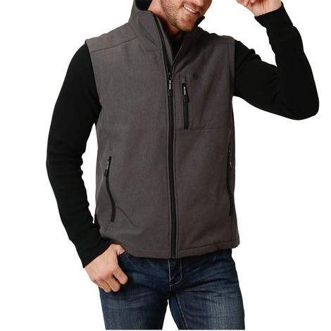 Roper Grey Tech Softshell Men's Vest