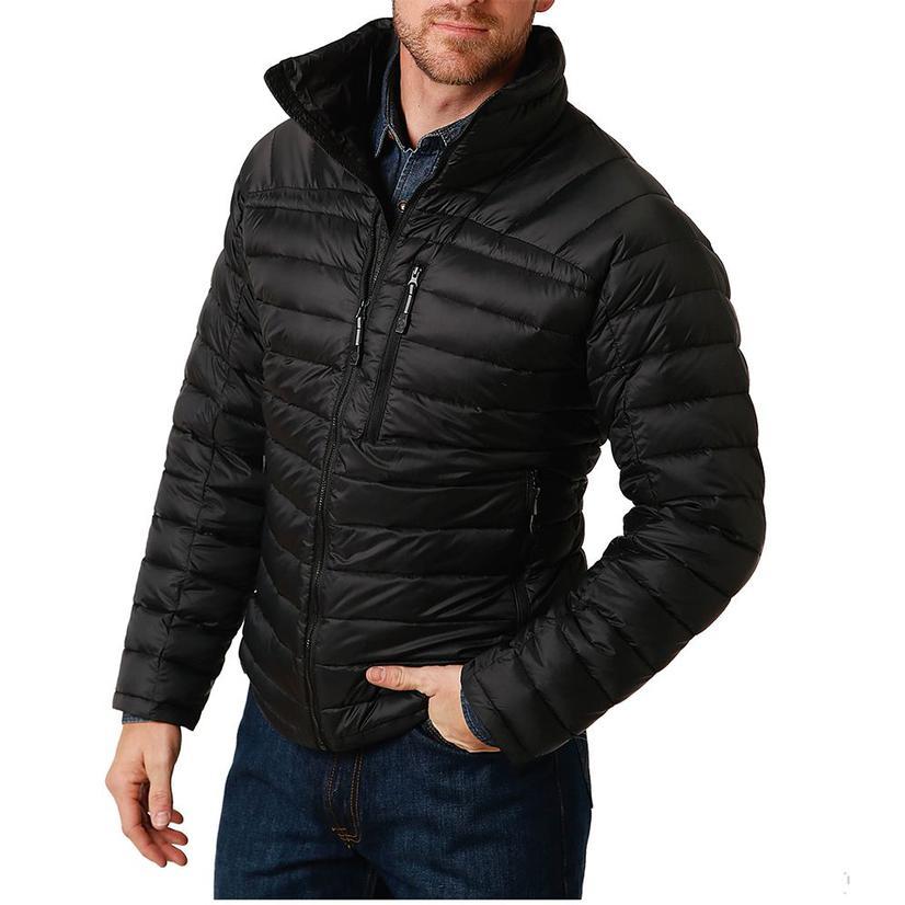 Roper Black Lightweight Down Puff Men's Jacket