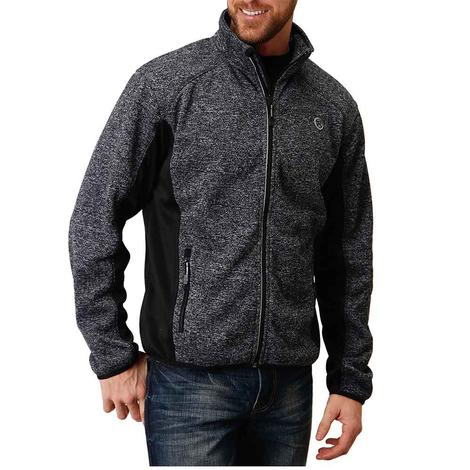 Roper Black Bonded Sweater Knit Men's Jacket