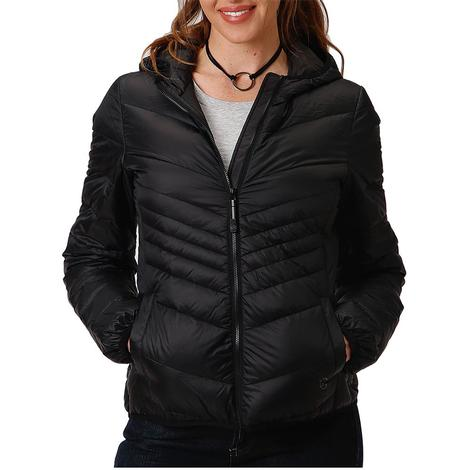 Roper Black Lightweight Down Puff Women's Jacket
