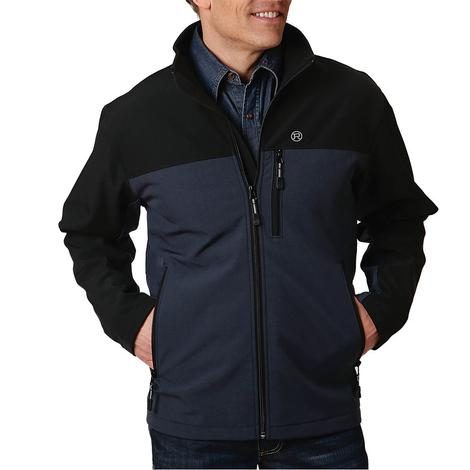 Roper Navy Black Tech Softshell Men's Jacket