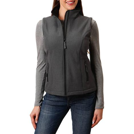Roper Grey Tech Softshell Women's Vest