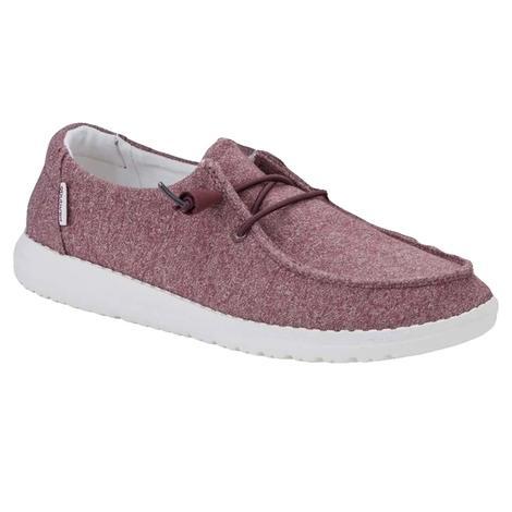 Hey Dudes Wendy Burgundy Women's Shoe