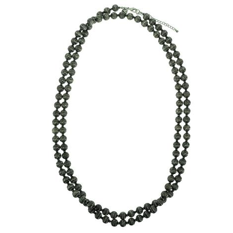 West & Company Silver Melon Bead Necklace