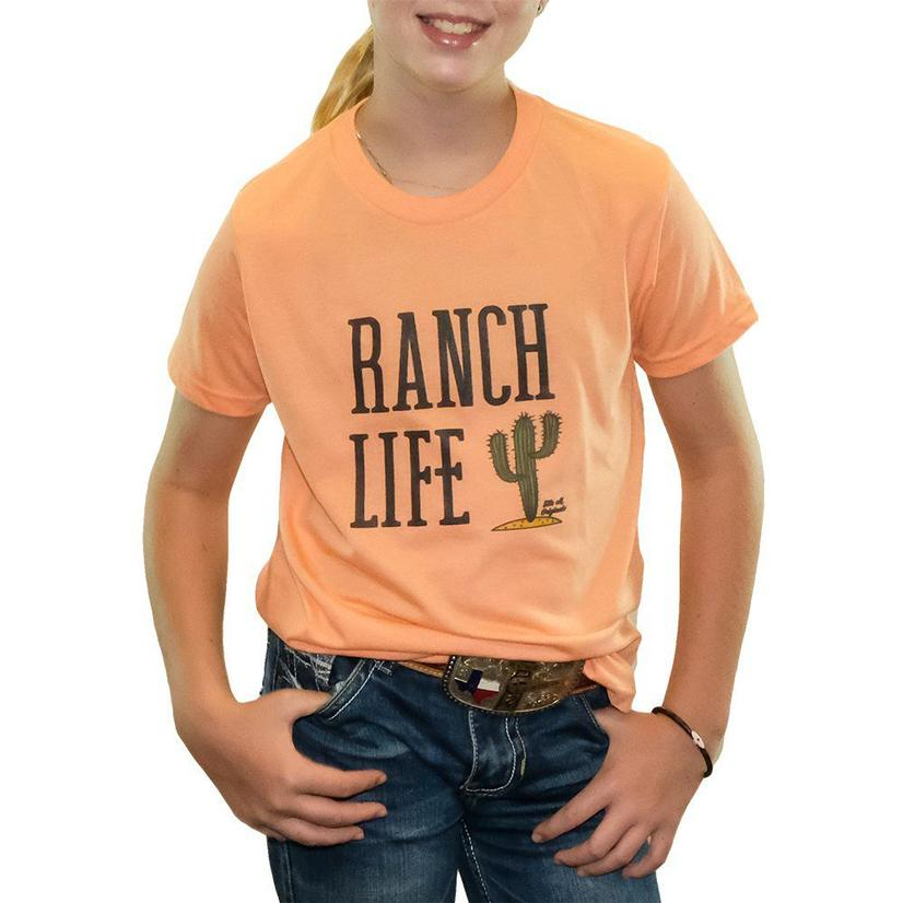 Elle M Originals Ranch Life Coral Tee