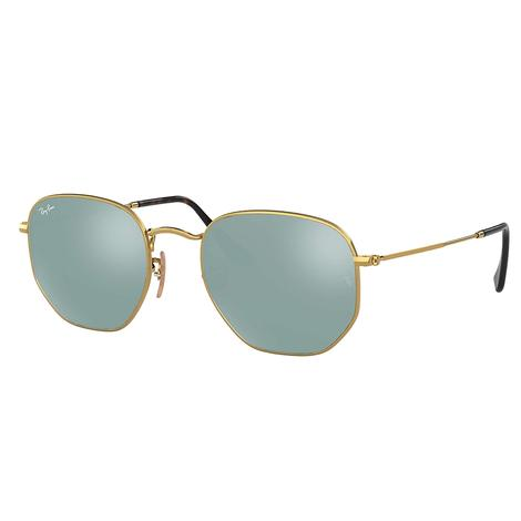 Ray-Ban Hexagonal Gold Sunglasses