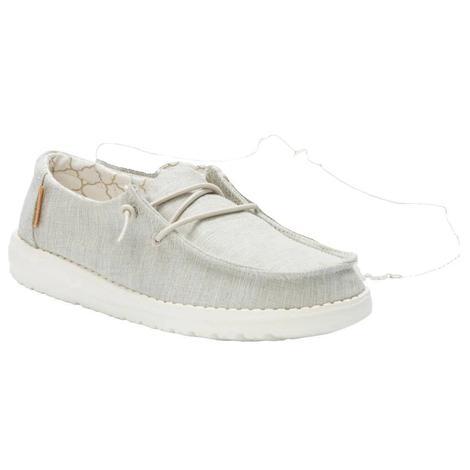 Hey Dude Wendy Linen Beige Girl's Shoe
