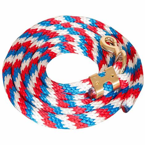Poly Lead Rope w/ Brass Bolt Snap 5/8