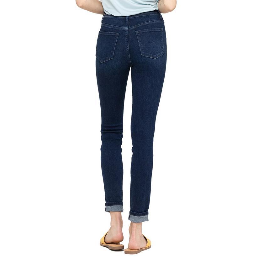 Vervet Button Fly Women's Ankle Skinny Jeans