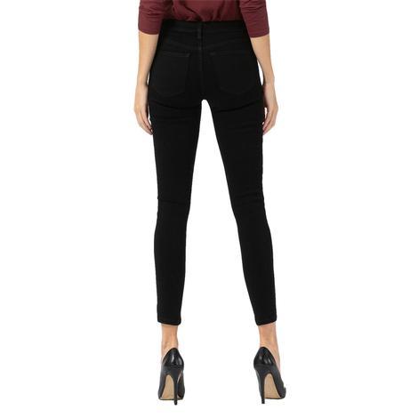 Vervet Midrise Supersoft Black Crop Skinny Jeans