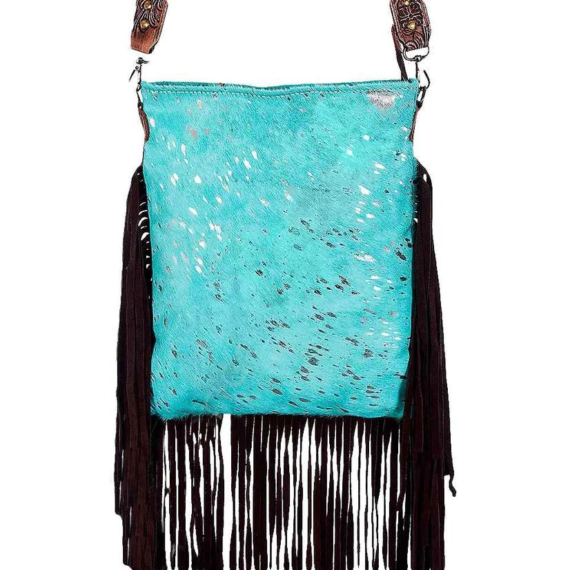 American Darling Bags Turquoise Silver Acid Bag With Fringe