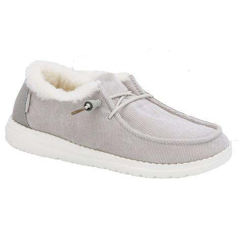Hey Dude Wendy Corduroy Grey Women's Shoes